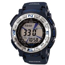 CASIO PROTREK MENS WATCH SOLAR PRG-260-2 PRG-260-2DR TRIPLE SENSOR BLUE