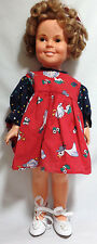 *Vintage 60's SHIRLEY TEMPLE Doll Red Dress