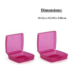 Tupperware sandwich keeper Square -Twin Set Brand New Free Shipping (Set of 2)