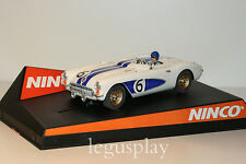 "SCX Scalextric Slot Ninco 50347 Chevrolet Corvette Classic  ""Sebring 1956"" - New"