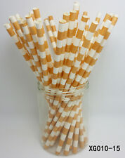 25 Paper Straws Horizontal Stripes Drinking Straws For Birthday Party Color 15