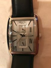 Kenneth Cole New York Men's Dress Watch Black Strap Was $115 NWT
