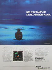 3/1991 PUB ALLIED SIGNAL AEROSPACE BENDIX KING RDR 1400C WEATHER RADAR AD