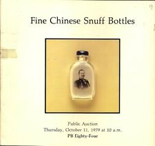 RARE - SOTHEBY'S PARKE BERNET CHINESE SNUFF BOTTLES Auction Catalog 1979