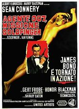 007 MISSIONE GOLDFINGER MANIFESTO SEAN CONNERY JAMES BOND GERT FROBE BLACKMAN
