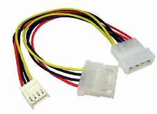 "5.25"" 4 Pin Molex To 3.5"" Floppy Drive & Molex Power Splitter Adaptor Cable"