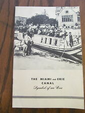 Vintage Original miami and erie canal History booklet Dayton Ohio Carillon Park