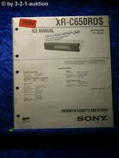 Sony Service Manual XR C650RDS Cassette Car Stereo (#3620)