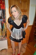 French Maid Fancy Dress Costume UK12/14