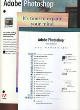 Adobe Photoshop 3.0 4.0 Brochure Quick Reference Card Rare Historic Collectible