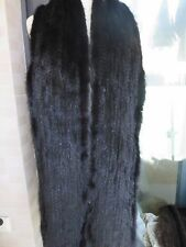 2XL# Elegant  Men's  Real  Mink fur knitted scarf  (Black)