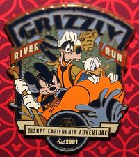 Disney Grizzly River Run Mickey Est. 2001 Pin Mickey Goofy Donald New On Card