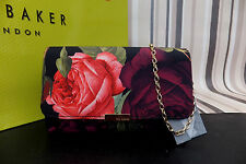 TED BAKER Genuine Grape Color WYNNIE Juxtapose Rose Evening Bag BNWT