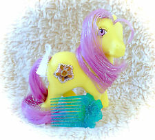 1987 Princess Starburst & Comb Original G1 My Little Pony MLP Tinsel Hair Jewel