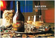 Publicité Advertising 1989 (2 pages ) Liqueur Irish Cream Baileys