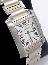 CARTIER LARGE TANK FRANCAISE TWO TONE 18K YELLOW GOLD & SS AUTOMATIC 2302