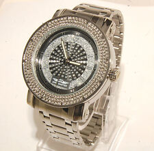 King master men watch Silver finish metal band  with 12 diamonds