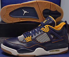 Nike Air Jordan 4 IV Retro Dunk From Above Midnight Navy Gold SZ 8 (308497-425)