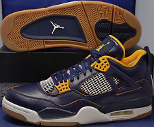 Nike Air Jordan 4 IV Retro Dunk From Above Midnight Navy Gold SZ 10 (308497-425)
