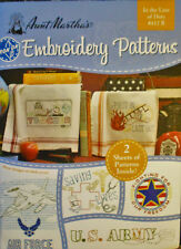 "Aunt Martha's Embroidery Patterns Booklet # 412 B "" In the Line of Duty """