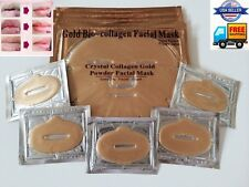 5X Gold 24K Bio Collagen Pilaten Facial Masks +Free 10X Gold Lip Masks Lot 2018