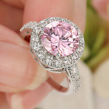 2016 lady's Jewelry white Filled Pink Sapphire Wedding Ring Gift size 5.5