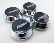 CENTER CAPS HUB WHEELS Rim Cover Silver Chome Size 63.5mm. For COSMIS Car Racing
