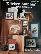 "Leisure arts cuisine maille ""food cross stitch pattern livret #157"
