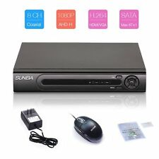 8CH 1080P HDMI Full AHD H.264 Security DVR P2P Digital Video Recorder Cloud
