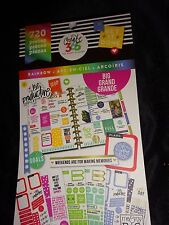 Happy Planner RAINBOW  STICKER BOOK 30pgs 720pc Dates.Memo,Appointment, TO DO's
