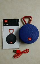 JBL Clip 2 Portable Wireless Bluetooth Waterproof Speaker Latest Model (Blue)