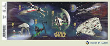 2015 Star Wars Stamp Miniature Sheet No.113 with Barcode - Royal Mail Stamps