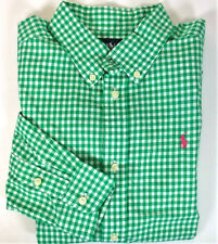 POLO RALPH LAUREN Boys Shirt Sz 18-20 Kids XL Gingham Long Sleeved Dress Top NWT