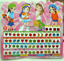 Kid Girl Crystal Stick Earring Sticker Toy Body Bag Party Jewellry ~60pcs~