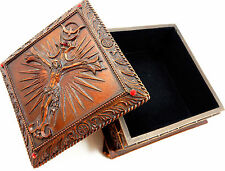 "NEW! 4"" Jesus Christ Crucifixion Box Keepsake Trinket Jewelry Rosary Gift p6423"