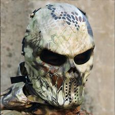 Cosplay Paintball Outdoor Game Metal&Mesh Protection Full Face Airsoft Mask A05