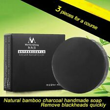 40g Handmade Bamboo Charcoal Soap Skin Care Natural For All Types of Skin  H33