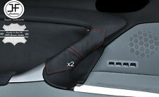 RED STITCH 2X FRONT DOOR HANDLE LEATHER COVERS FITS LEXUS IS200 IS220 06-12
