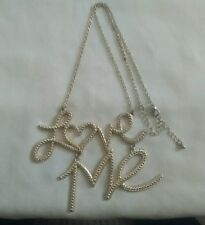 18 Kt. Gold Plated Love Me Pendant Choker Necklace