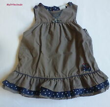 Cadet Rousselle*** Robe/Dress  doublée 6 mois  étoiles/stars Kaki et bleu marine