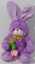 Best Made Toys PURPLE EASTER BUNNY RABBIT Holding FLOWER Stuffed Plush ANIMAL