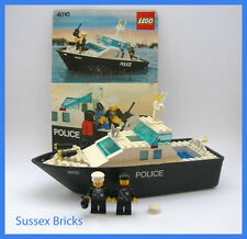 Lego Vintage Classic Town City - 4010 - Police Rescue Boat Launch - Complete