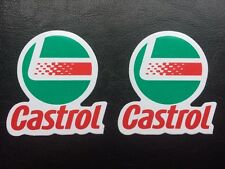 Castrol Stickers / Decals x 2 - Oil, Brake fluid, Grease