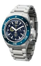 Jorg Gray JG9700-24 Men's Watch Chronograph Diver Blue Dial Silver Band Date