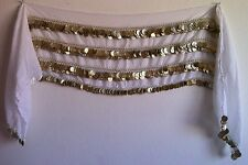 Oversize Belly Dance Hip scarf Wrap Belt Waist Chain, 500 Coin .