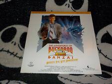 The Adventures of Buckaroo Banzai Laserdisc LD Peter Weller Free Ship $30 Orders