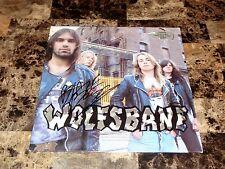 Blaze Bayley Rare SIGNED Wolfsbane Promo Vinyl LP Record Heavy Metal Iron Maiden