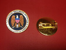 UNITED STATES `NATIONAL SECURITY AGENCY `  Gold Plated PIN Badge  N.S.A.