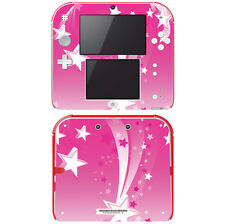 Vinyl Skin Decal Cover for Nintendo 2DS - Pink Shooting Stars