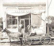 1908 Cabinet photo advertising Lloyd Bros.Dry Goods store horse cart shoes store